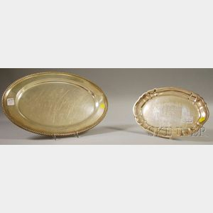Two Gorham Sterling Platters