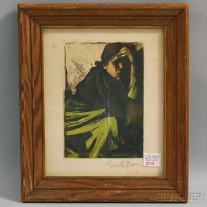 Emil Karl Zoir (Swedish, 1867-1936)      Figure in Contemplation