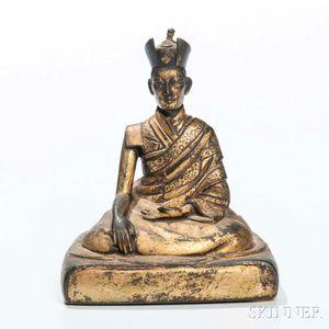 Gilt-bronze Figure of a Kagyu Lama