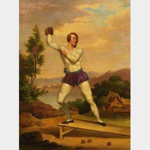 British School, 19th Century    The Athlete