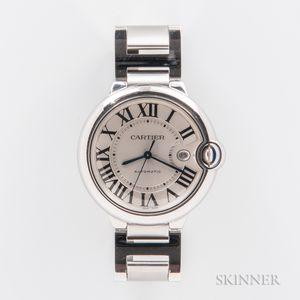 """Cartier """"Ballon Bleu"""" Stainless Steel Wristwatch"""