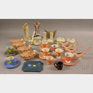 Thirty-six Assorted Lenox Porcelain and Bisque Figural, Tableware, and Table Items
