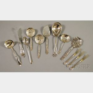 Twelve Assorted Sterling Silver Flatware Items