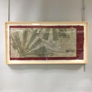 Framed Orient II   Woodblock Print