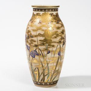 Oval Satsuma Vase