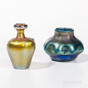 Two Tiffany Studios Favrile Vases