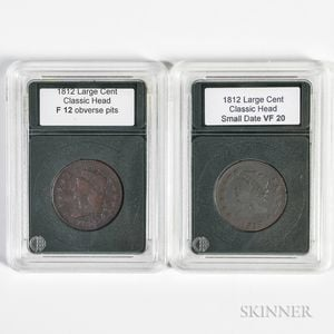 Two 1812 Classic Head Cents