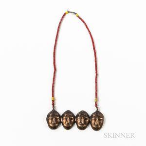 Naga Brass Chest Ornament