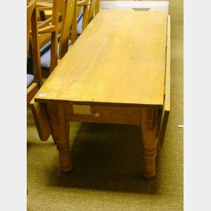 Country Pine Drop-leaf Low Table.