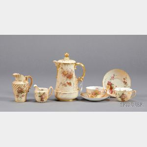 Nine Royal Worcester Assembled Tea Wares