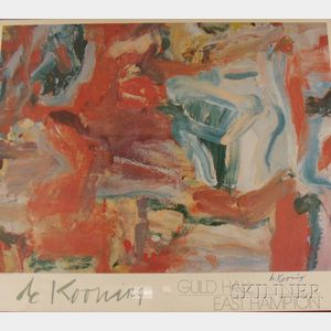 After Willem De Kooning (Dutch/American, 1904-1997)      East Hampton V/A Guild Hall Exhibition Poster