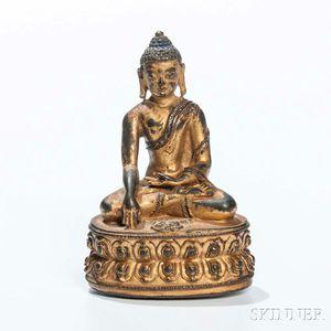 Gilt-bronze Figure of Buddha Akshobhya