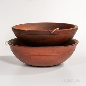 Two Large Turned Bowls