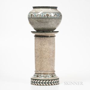 English Pottery Jardiniere and Stand