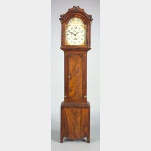 Fancy Painted Tall Case Clock