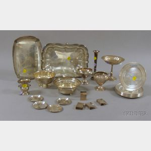 Group of Sterling Silver Table and Serving Items