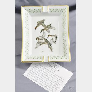 "Porcelain ""Sarcelles"" Ashtray, Hermes"