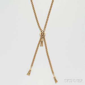 14kt Gold Slide Necklace