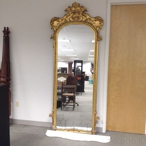 Rococo Revival Gilt and Carved Gesso Pier Mirror