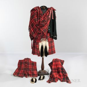 Group of Scottish Highland Attire