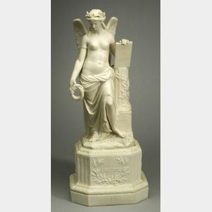 Minton Parian Figure Commemorating the Crimean War