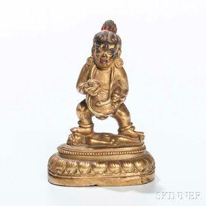 Brass Figure of Black Jambhala