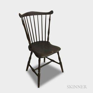 Brown-painted Fan-back Windsor Side Chair