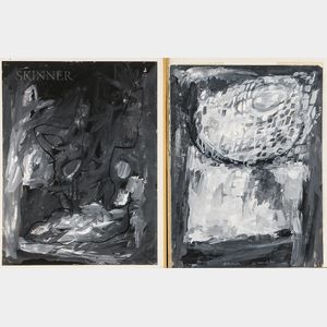 Rex Jesse Ashlock (American, 1918-1999)      Two Grisaille Paintings on Paper: Chalis