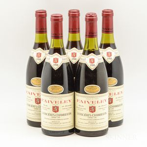 Faiveley Latricieres Chambertin 1988, 5 bottles