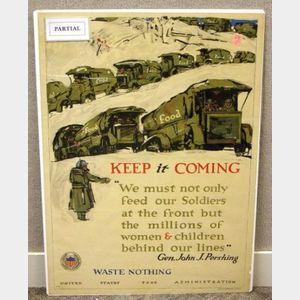 Four United States WWI Lithographed Posters