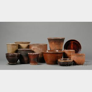 Twelve Assorted Redware Items