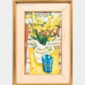 Gerard Calvet (French, b. 1926)      Genets dans un vase bleu