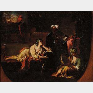School of Giovanni Battista Tiepolo (Italian, 1696-1770)      An Afternoon's Diversions/An Interior Scene