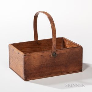 Small Shaker Butternut Swing-handled Rectangular Carrier