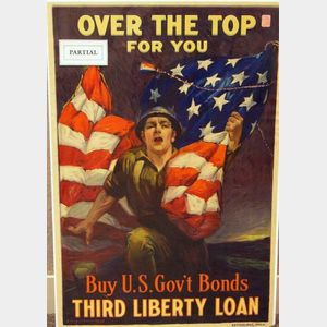 Four United States WWI Lithographed Bond Posters