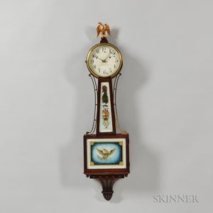 "Bailey, Banks & Biddle Co. Mahogany ""Banjo"" Clock"