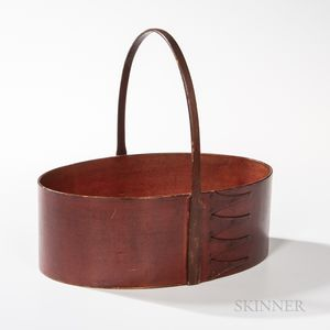 Shaker Red-painted Oval Four-finger Carrier