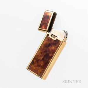 18kt Gold and Enamel Lighter
