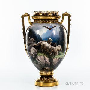 Austrian Porcelain Hand-painted Vase