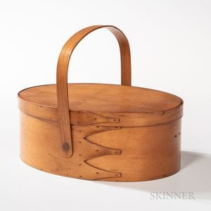 Shaker Oval Swing-handled Four-finger Lidded Carrier