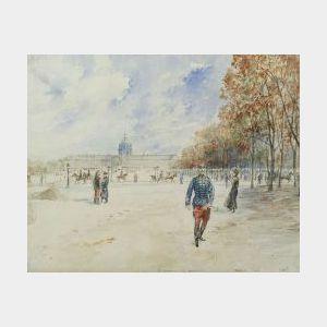 Georges Stein (French, b. circa 1870)  L'Esplanade des Invalides