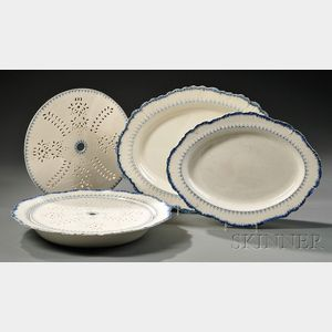 Five Wedgwood Mared   Pattern Pearlware Items