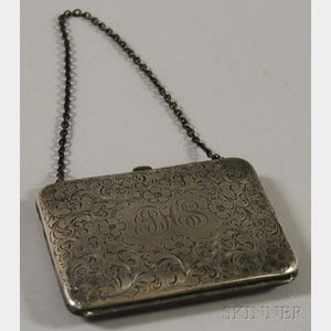 Pryor Manufacturing Co. Sterling Silver Lady's Purse on Chain