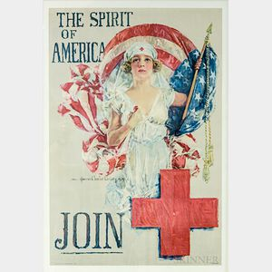Framed Howard Chandler Christy The Spirit of America   Poster