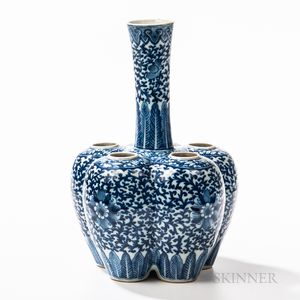 "Blue and White ""Tulip"" Vase"
