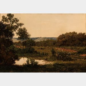 Emile F. Beaulieu (American, fl. 1850-c. 1870)      Tranquil Landscape