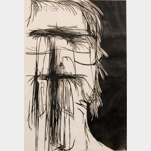 Leonard Baskin (American, 1922-2000)      Dead Saint