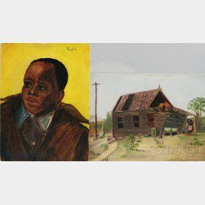 Glenn Tilley Morse (American, 1870-1950)      Two Paintings: Aunt Jemimah's House