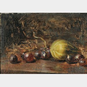 David A. Leffel (American, b. 1931)    Gourd and Grapes #1