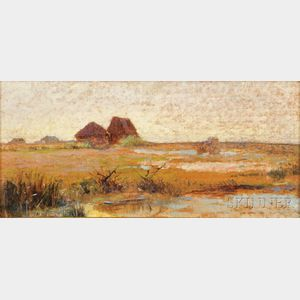Giovanni Fattori (Italian, 1825-1908)      Plain at Tombolo, Livorno